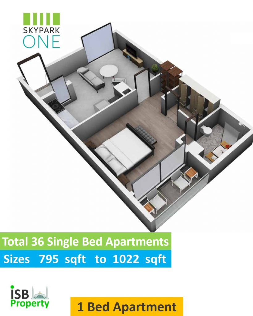 Skypark one Single Bed