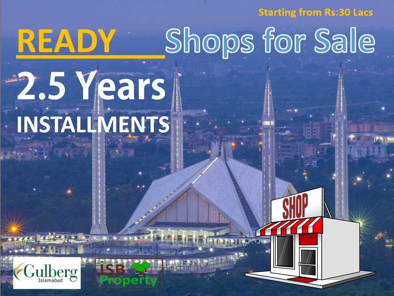 Ready Shops for Sale on Installments