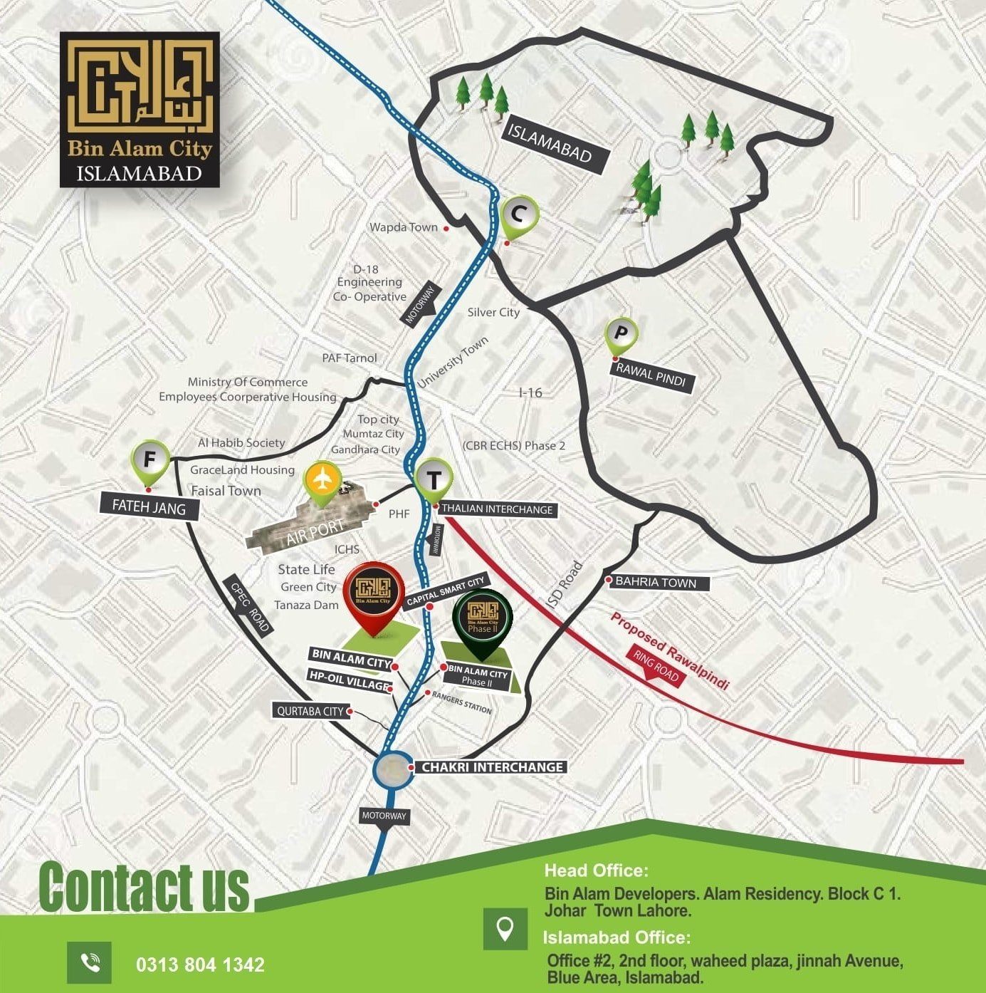 Bin Alam City Islamabad Phase 2 Location-min