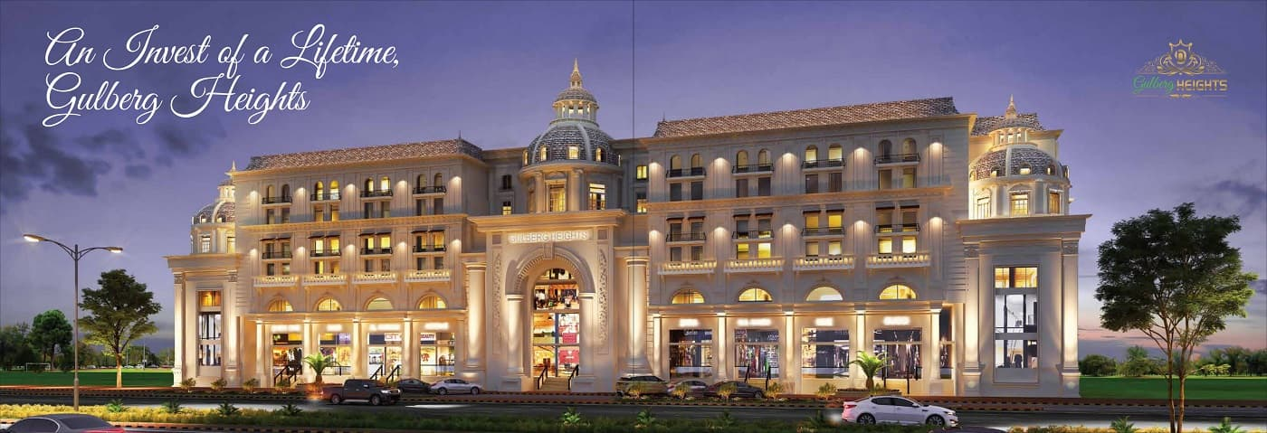 Gulberg Heights First Floor Shops on 3 Years Installments
