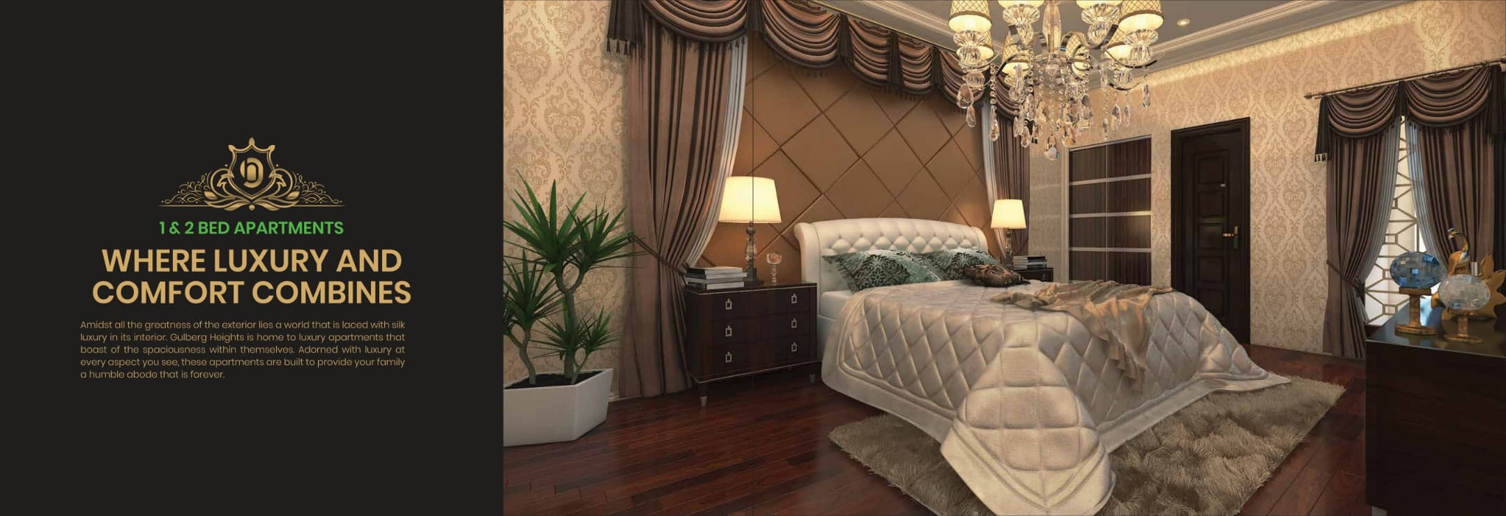 Gulberg Heights 1 Bed Apartment on 3 Years Installments