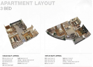 AxisMall3BedApartmentLayout