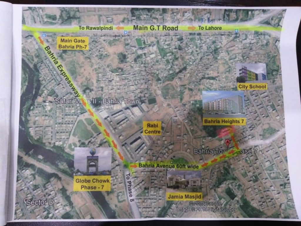 Bahria Heights 7 Location Plan