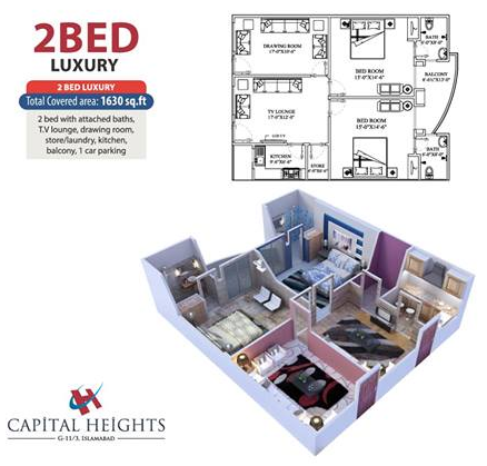 Capital Heights 2 Bed Luxury