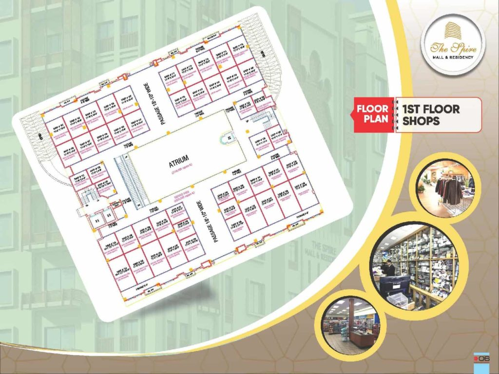 The Spire Mall 1st Foor Shops Layout Plan