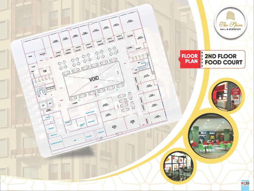 The Spire Mall 2nd Floor Food Court Layout Plan