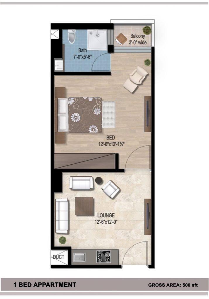 Lake-Vista-Bahria-Town-Phase-8-1-Bed