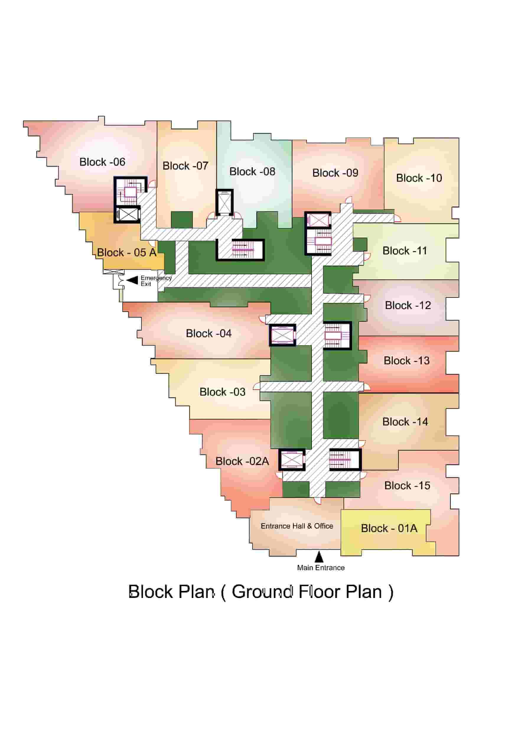 18West Residenia Block Ground FloorPlan