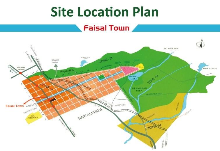 Faisal-Town-Location-Map