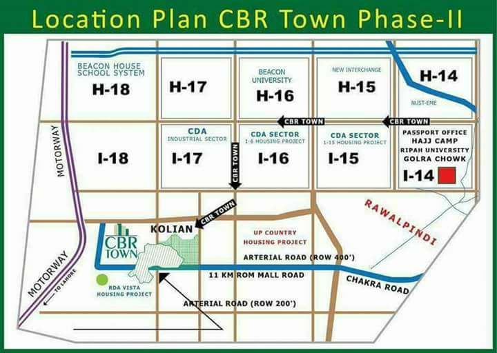 CBR Town Phase-2 Location Map