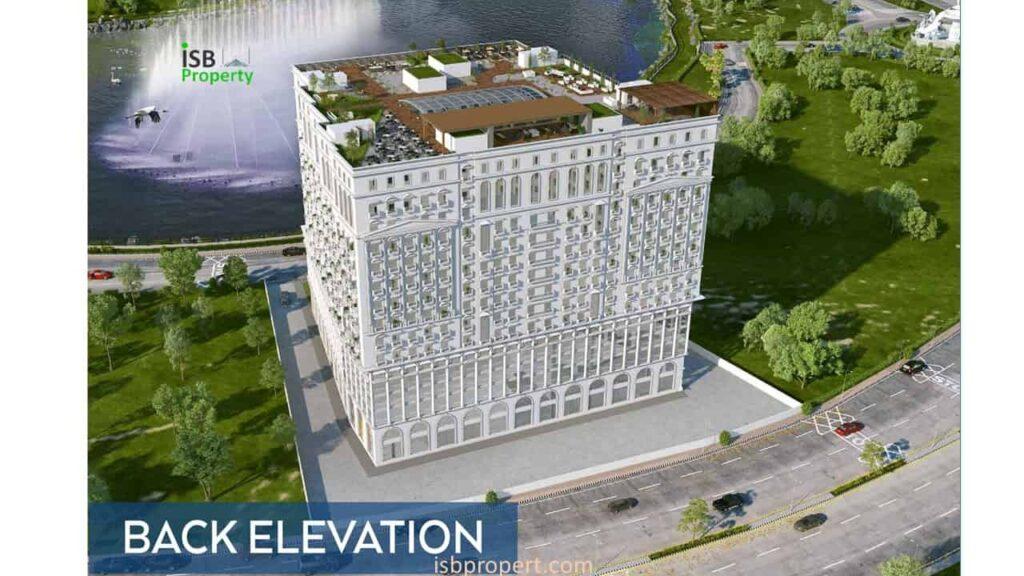 Crescent Lake Tower Back Elevation