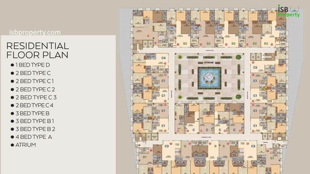 Crescent Lake Tower Residential Floor Plan