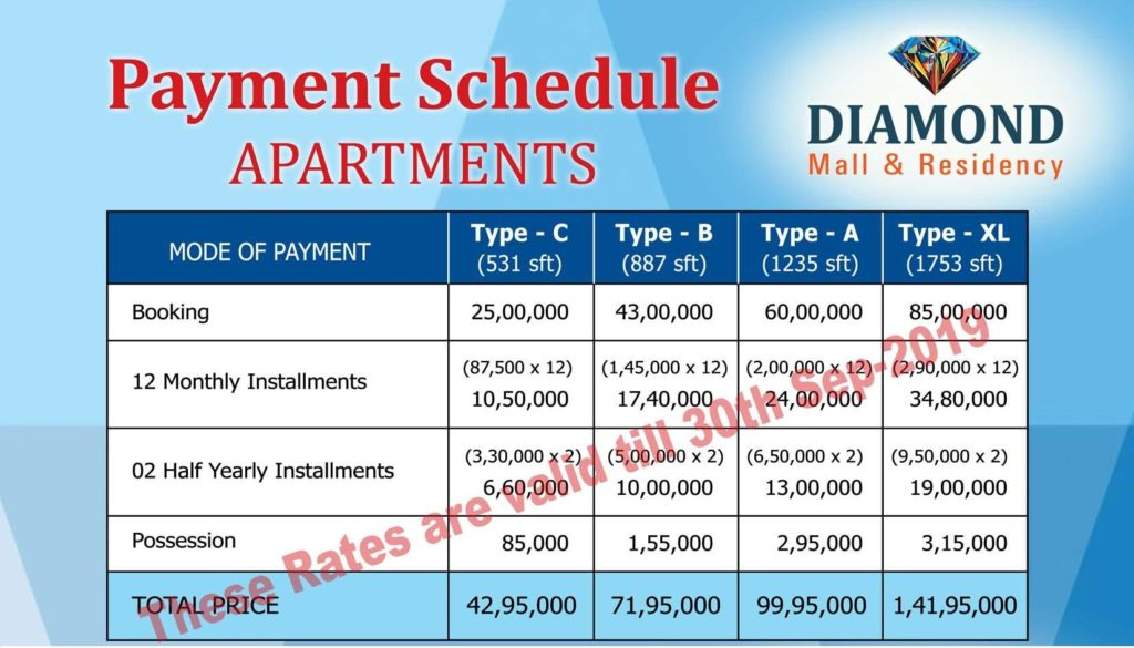 Diamond Mall Payment Plan-1