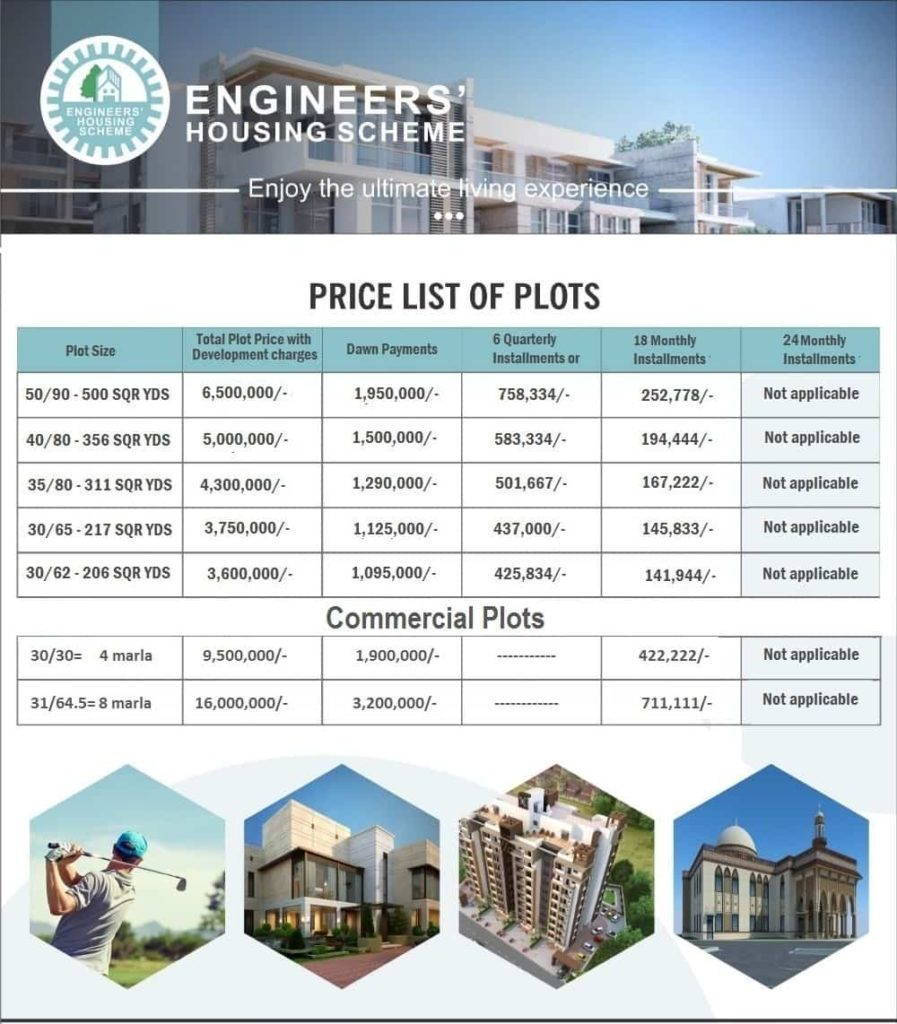 Engineers Housing Scheme Payment Plan
