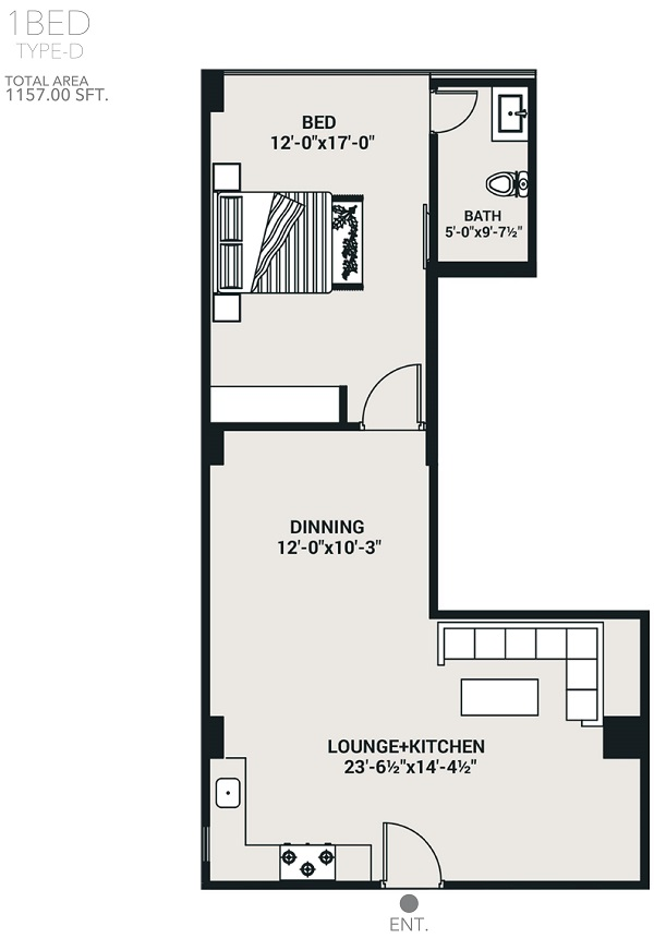 Gulberg Mall 1 Bed Type D