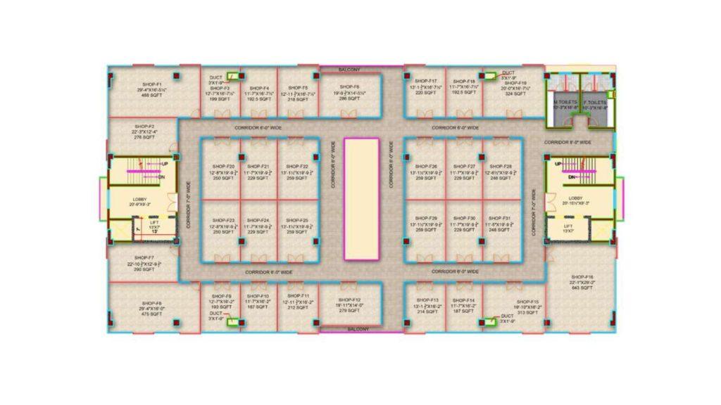 Gulberg Pride 1st Floor Layout Plan
