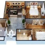 Gulberg Pride 2 Bed Apartment Layout Plan