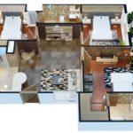 Gulberg Pride 3 Bed Apartment Layout Plan