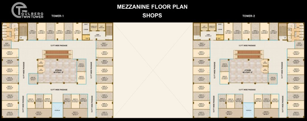 Gulberg Twin Tower Mezzanine Shops
