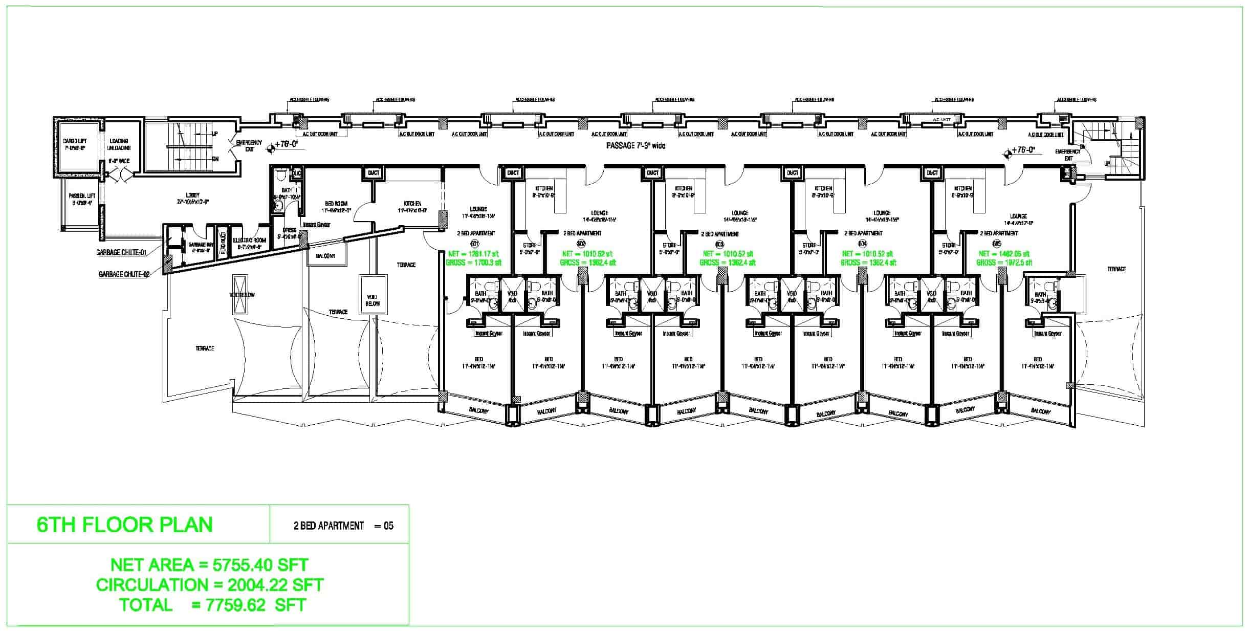 Liberty Tower 6th Floor Plan