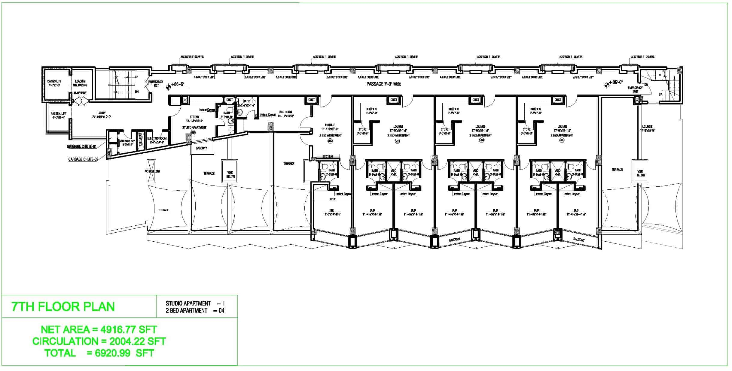 Liberty Tower 7th Floor Plan