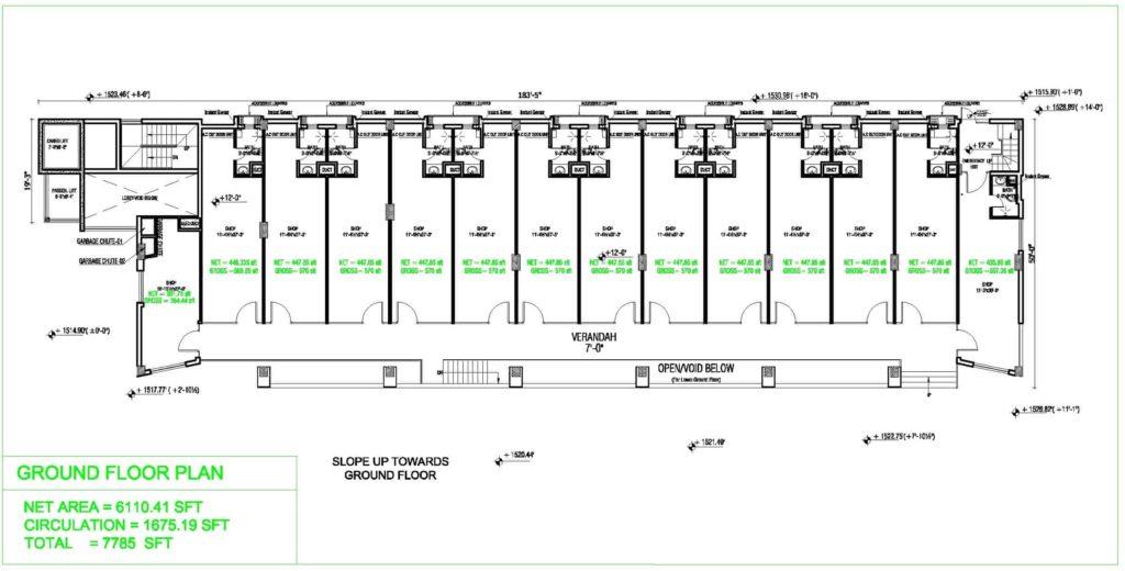 Liberty Tower Ground Floor Plan