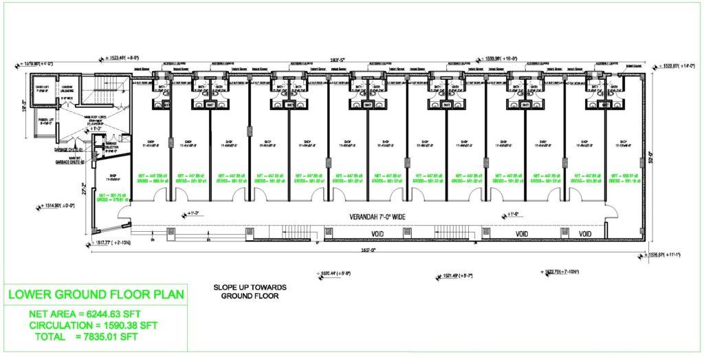 Liberty Tower Lower Ground Floor Plan