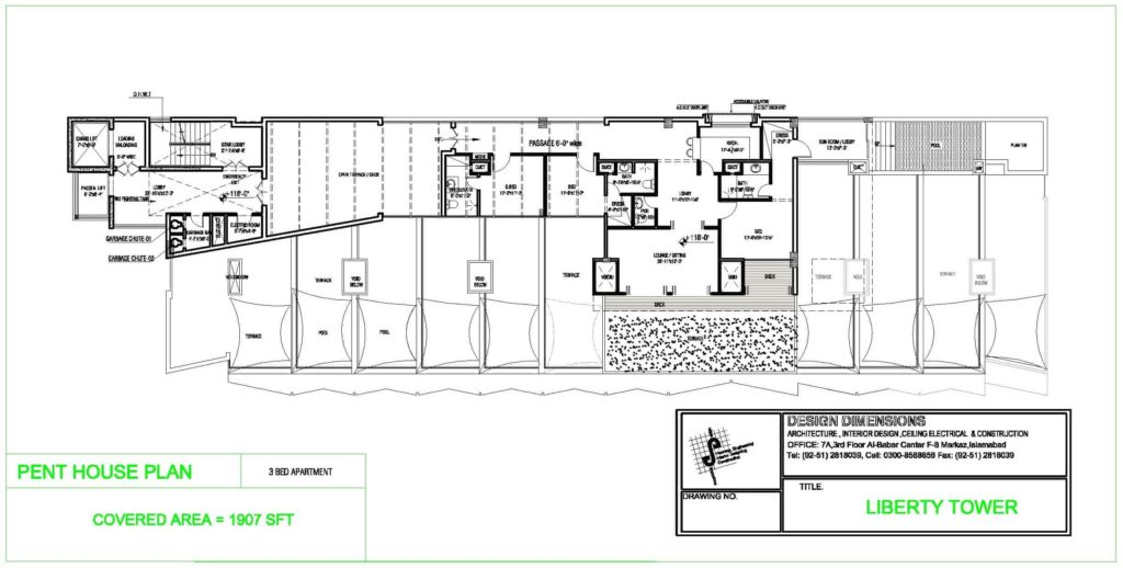 Liberty Tower Penthouse Plan