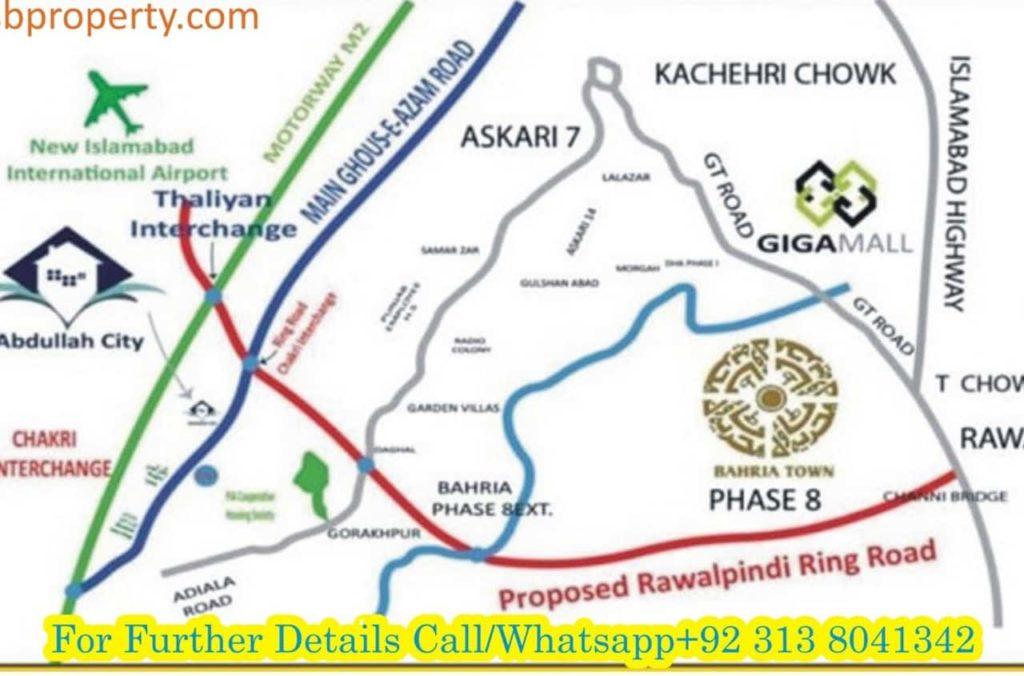Abdullah City Location Map