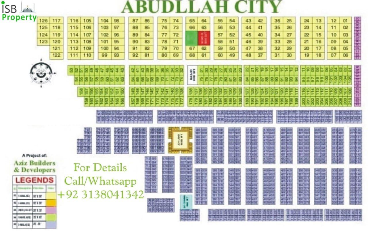 Abdullah City Society Map-min
