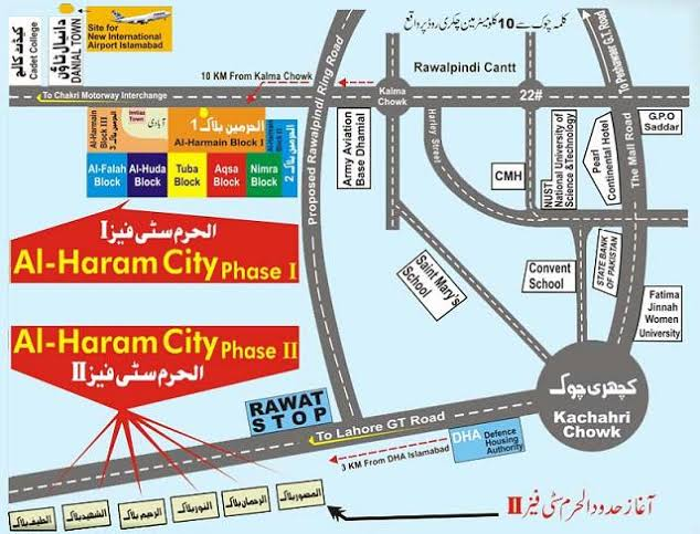 Al Haram City Location Map