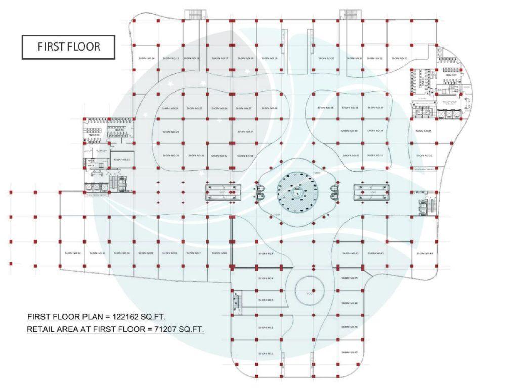 Aquatic Mall 1st Floor Plan