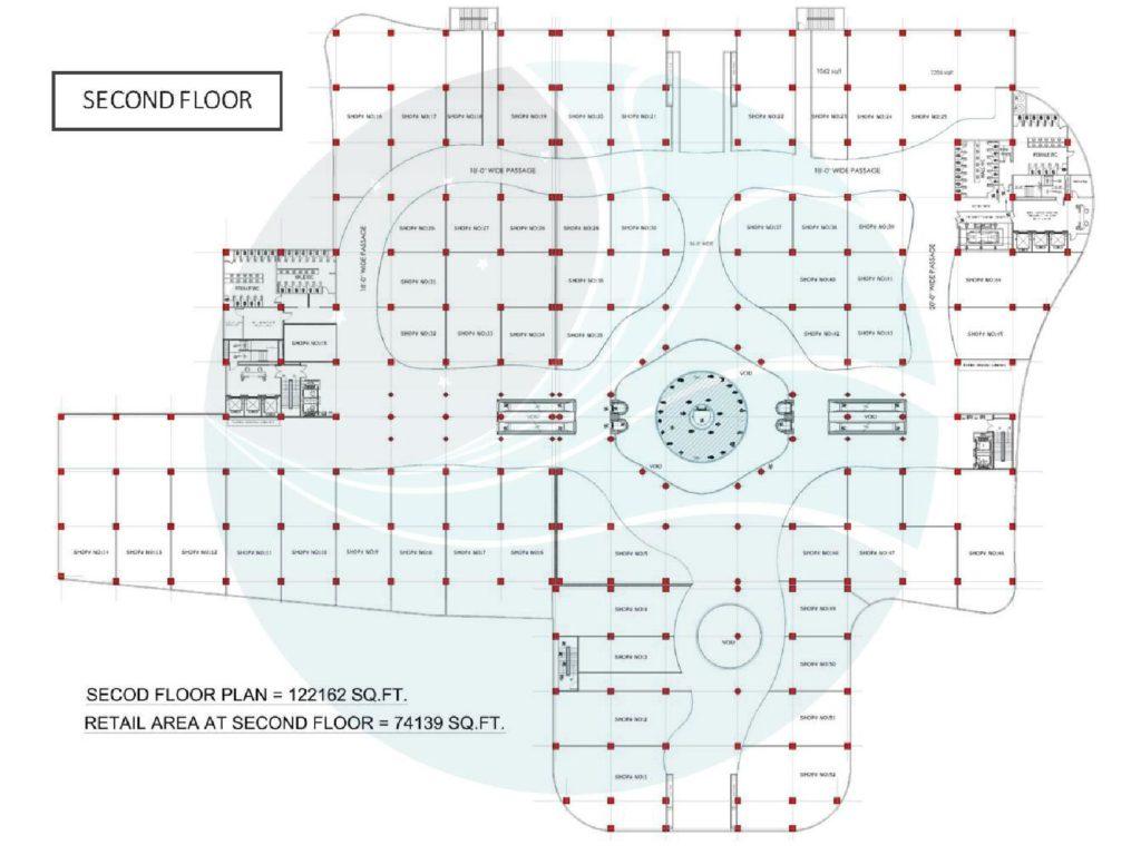 Aquatic Mall 2nd Floor Plan