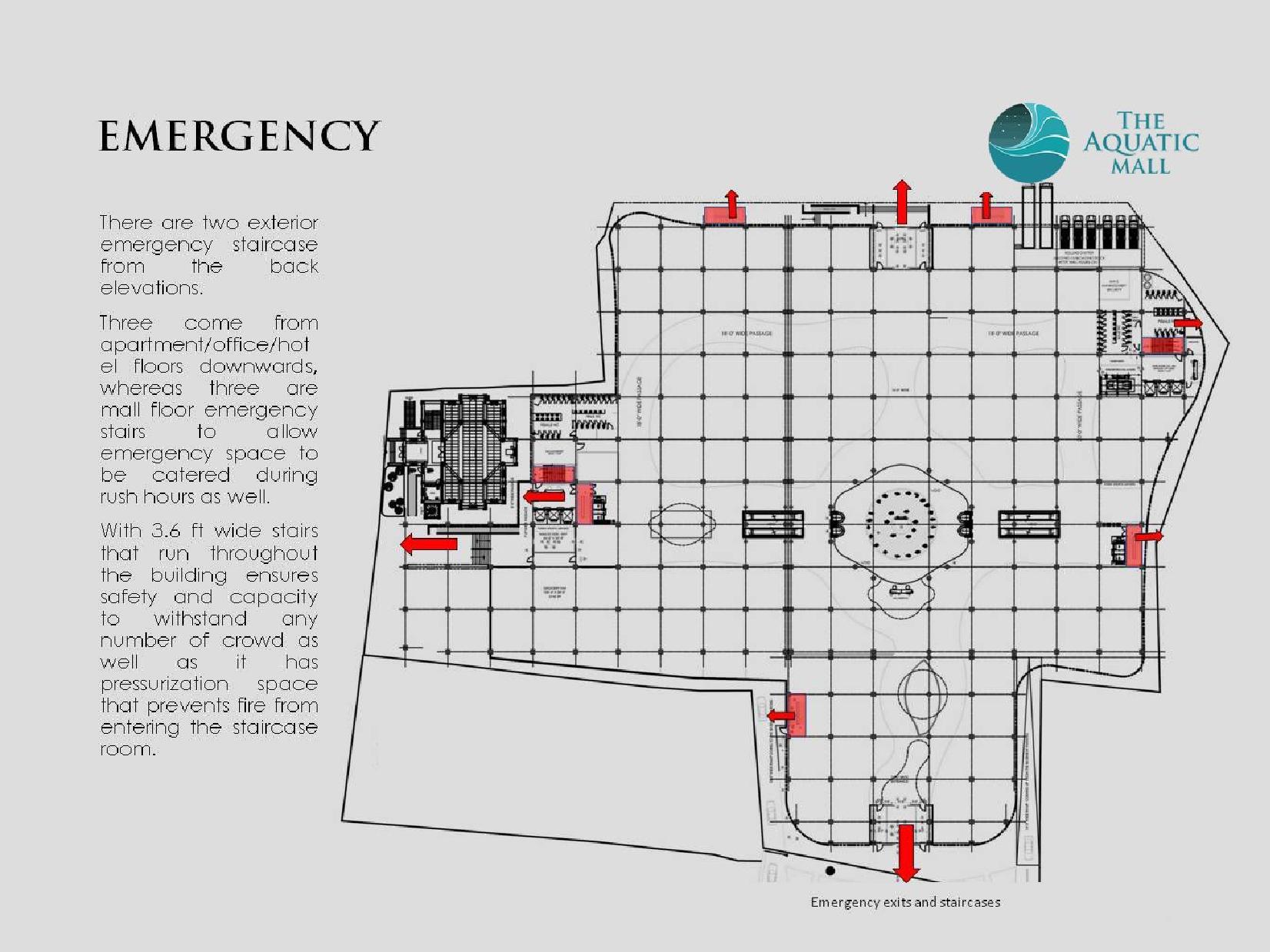 Aquatic Mall Emenrgency Stairs Plan