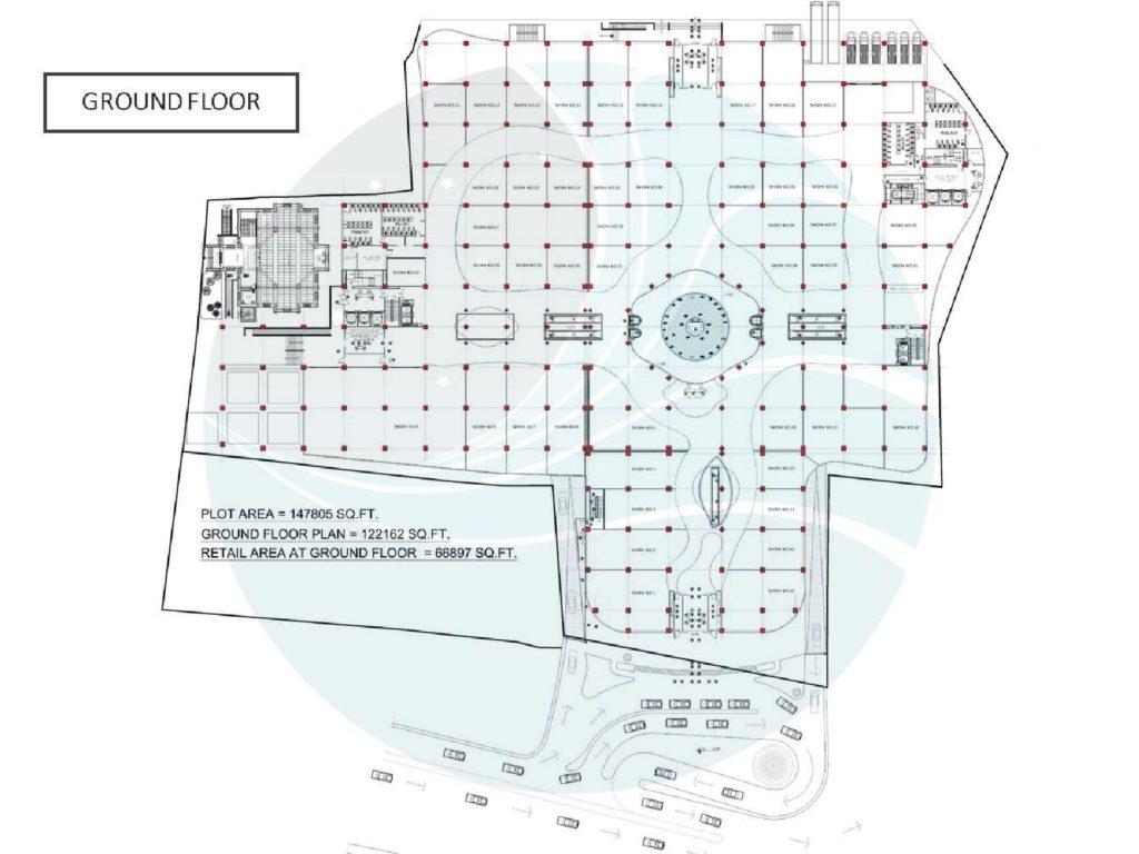 Aquatic Mall Ground Floor Plan