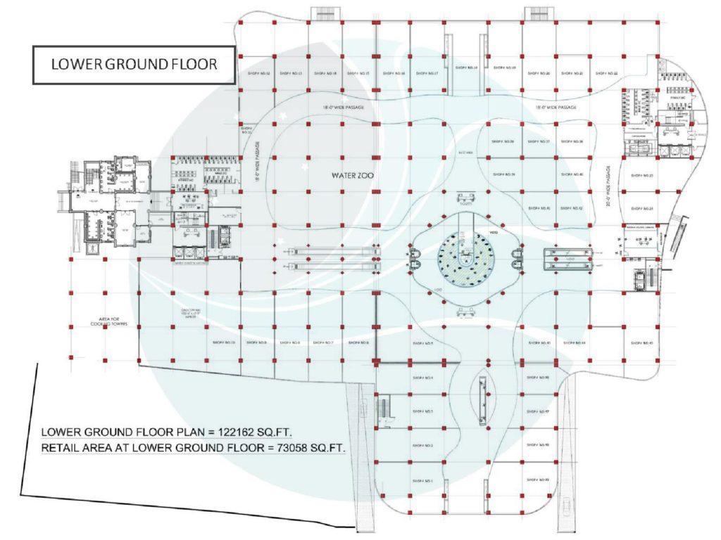 Aquatic Mall Lower Ground Floor Plan