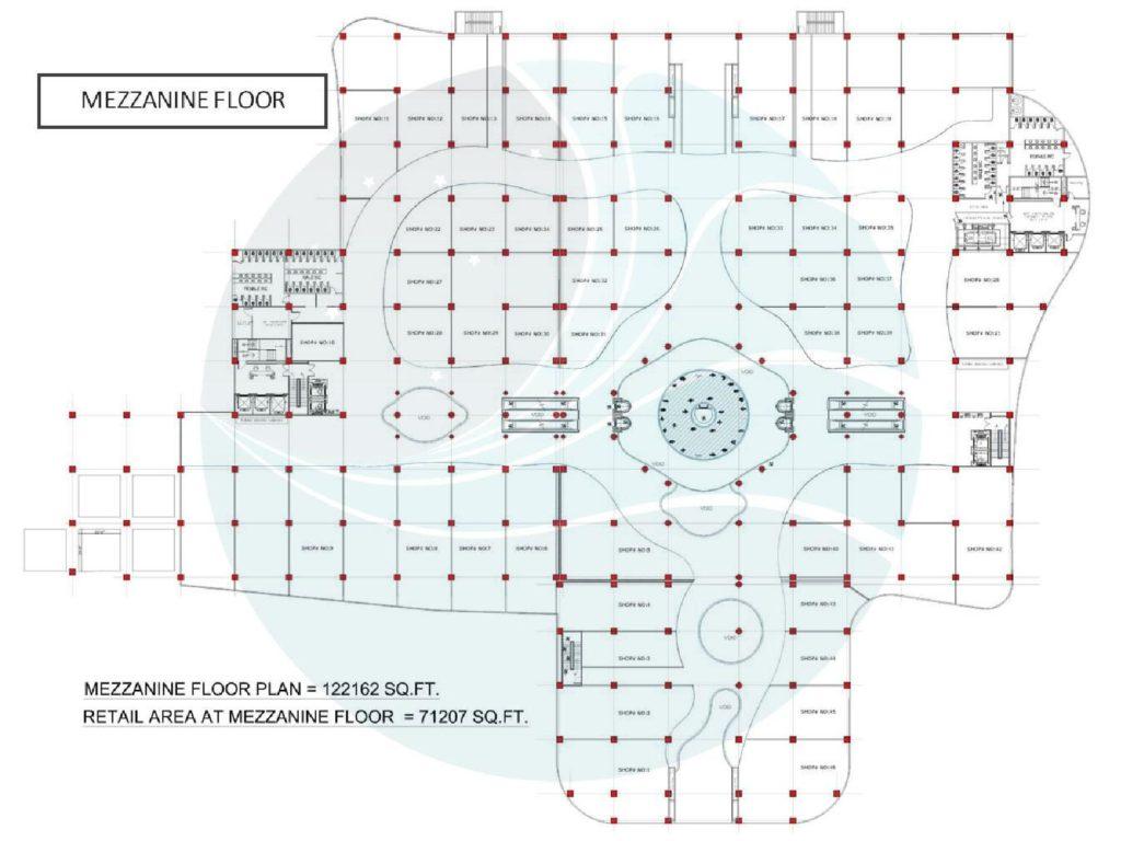 Aquatic Mall Mezzanine Floor Plan