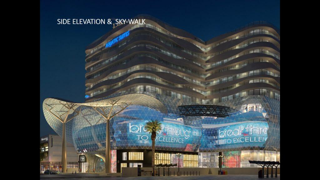 Aquatic Mall Side Elevation