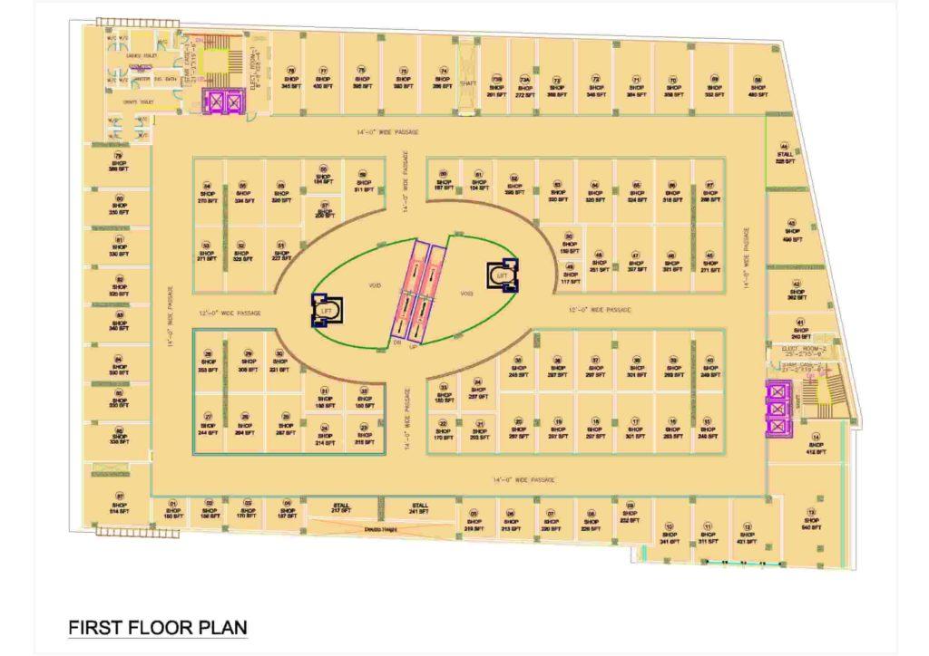 D-Mall 1st Floor Plan