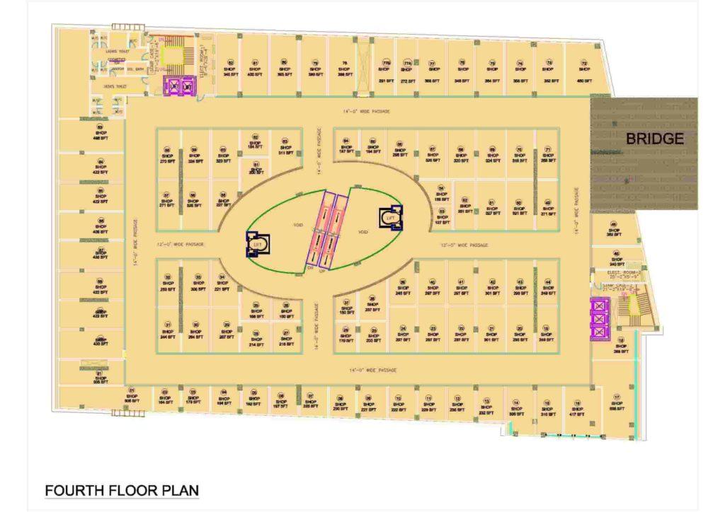 D-Mall 4th Floor Plan