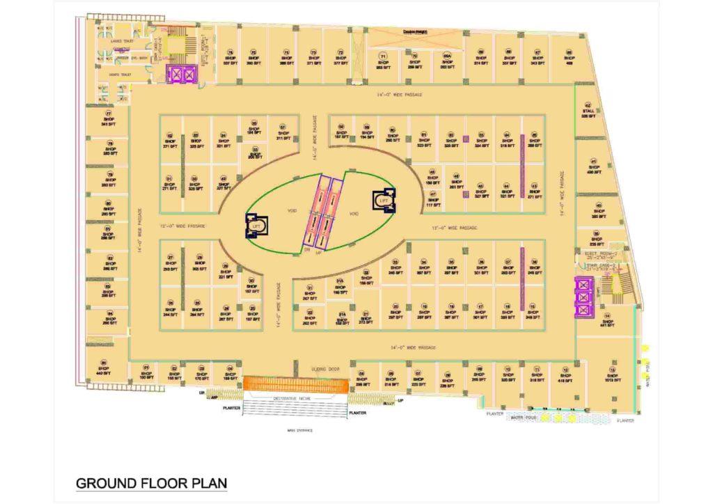 D-Mall Ground Floor Plan
