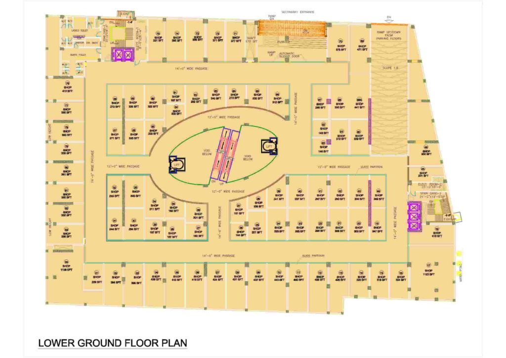 D-Mall Lower Ground Floor Plan