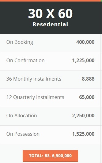 Down Town Residencia 8 Marla Payment Plan
