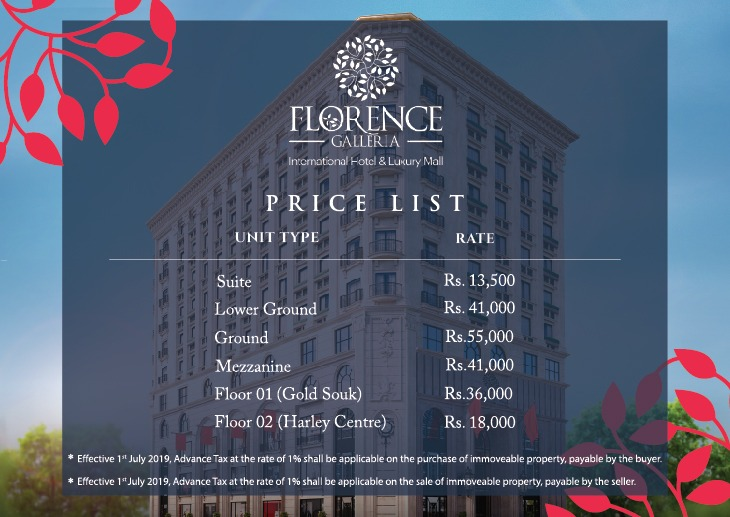 Florence Galleria Payment Plan