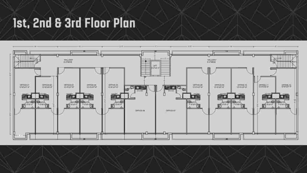 Grande Business Center 1st 2nd 3rd Floor Plan