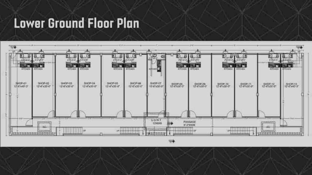 Grande Business Center Lower Ground Floor Plan