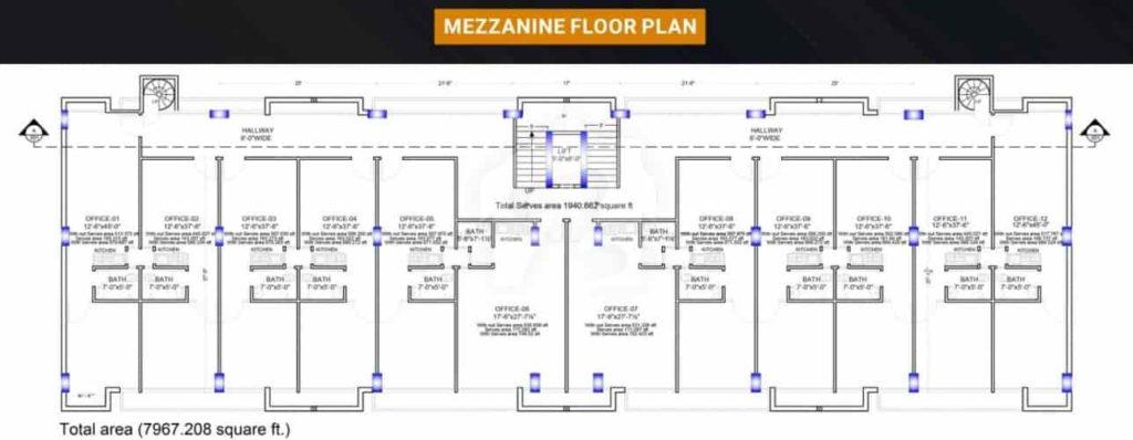 Grande Business Center Mezzanine Floor Plan