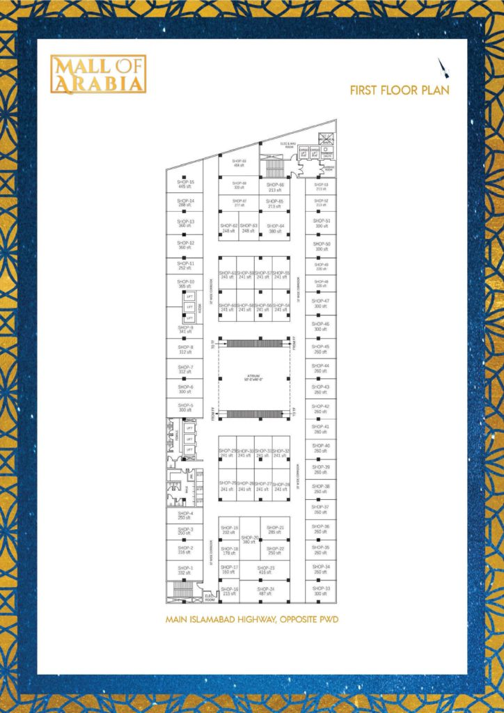 Mall of Arabia 1st Floor Shops Plan