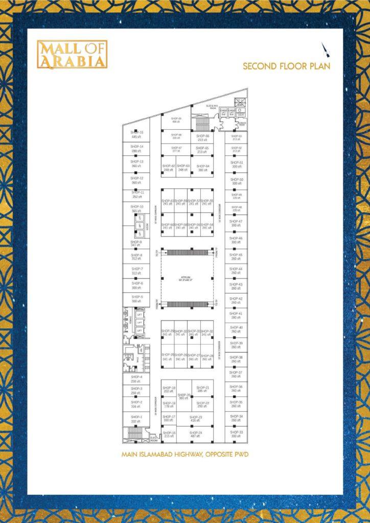 Mall of Arabia 2nd Floor Shops Plan