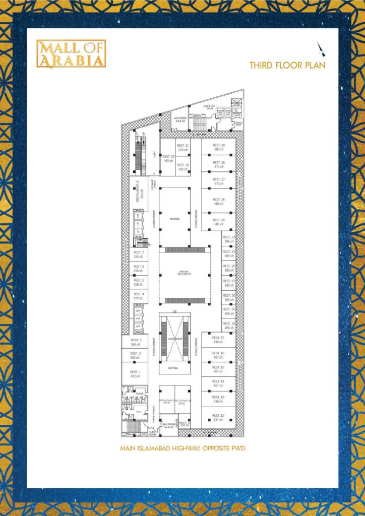 Mall of Arabia 3rd Floor Food Courts Plan